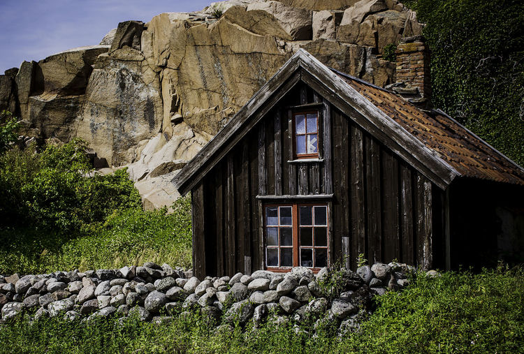 Architecture Building Building Exterior Built Structure Day Field Grass House Land Nature No People Old Plant Rock Rock - Object Solid Stone - Object Stone Wall Tree