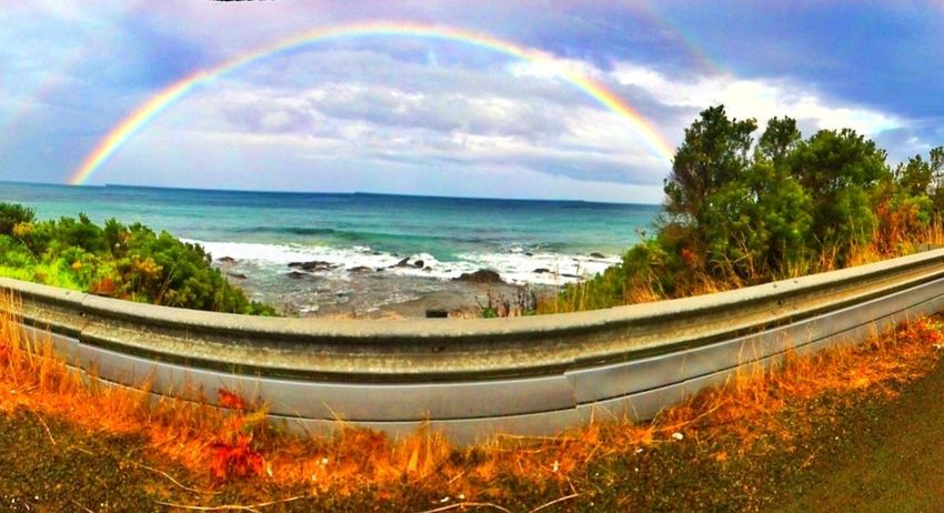aTravel Diary Beautiful Nature Beach rainbow at the end of every journey