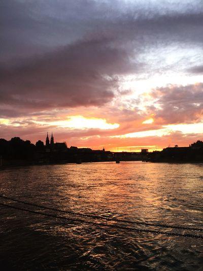 Summer in the City Scenics - Nature Orange Color Silhouette No People
