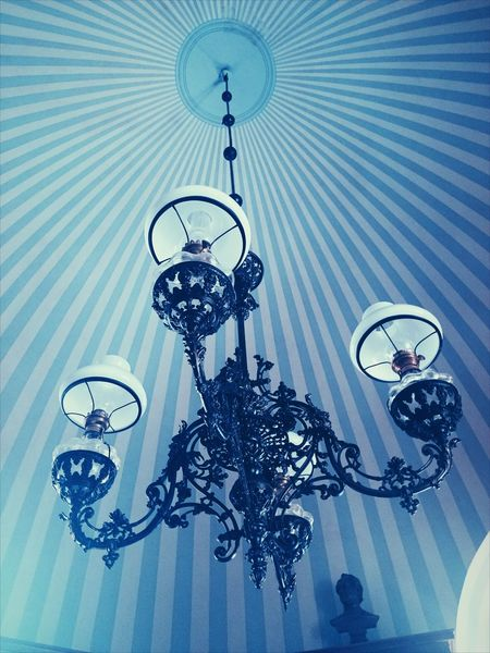 Indoors  Blue Castle Design Latvia Cesis Latvia Vintage Stripes Pattern Pattern Stripes, Lamp Sealing EyeEmNewHere Close-up Architecture No People