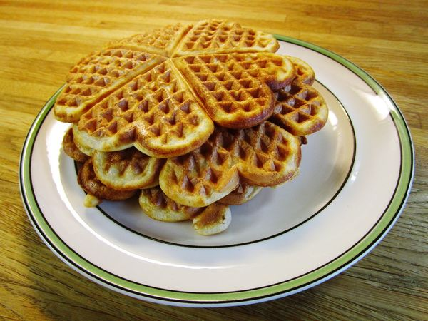 Maple Syrup Dessert Food Waffle Kitchen Cooking Home Plate Table Close-up Sweet Food Food And Drink Serving Dish Temptation
