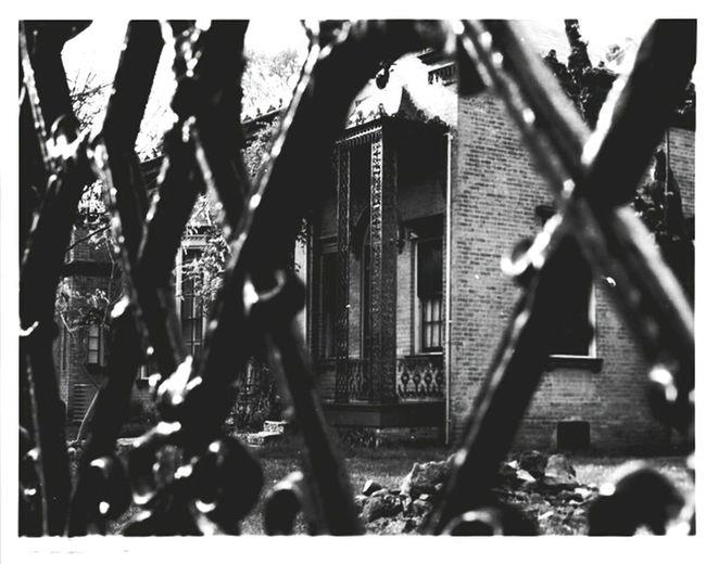 Victorian New Harmonie Iron Fence Ilford Film Black & White