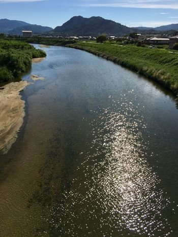 Subject : The River Kurose Flowing through Kurose and Downstream Hiro into Seto Inland Sea. Water Nature Beauty In Nature Scenics Mountain Tranquil Scene Tranquility No People Outdoors Day Sky . Taken at Kurose in Higashi-Hiroshima , Japan on Aug. 13, 2017 ( Submitted on Sug. 21, 2017 )