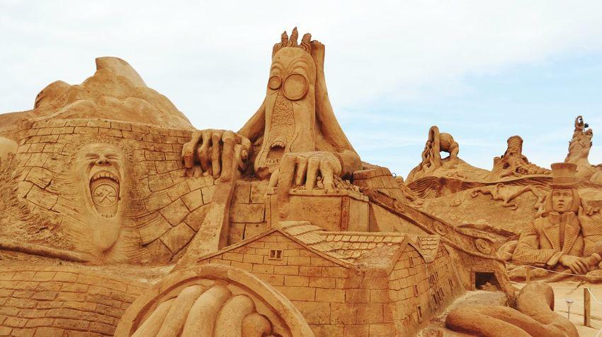 Sand Sculpture Sand Sculpture Park Imagination No People Sand Sculptures Art Sculpture Sand