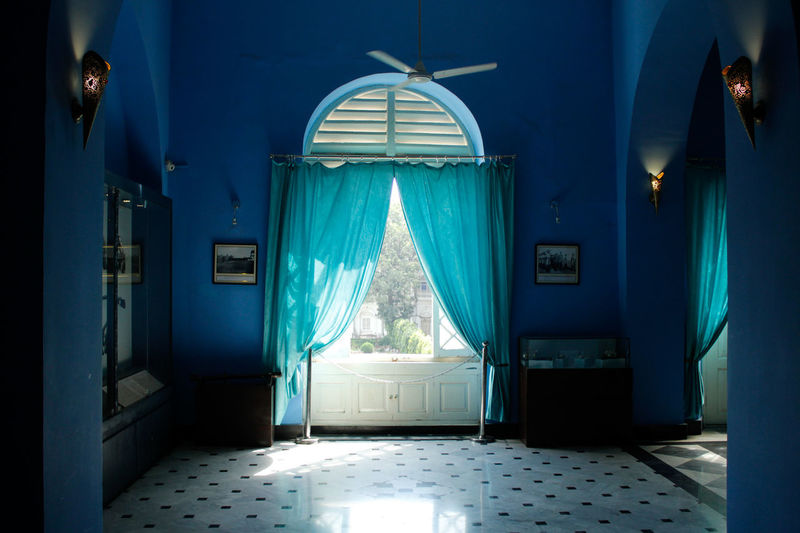 Room Decor Room With A View Window View Architecture Indoors  No People Blue Built Structure Jai Vilas Palace