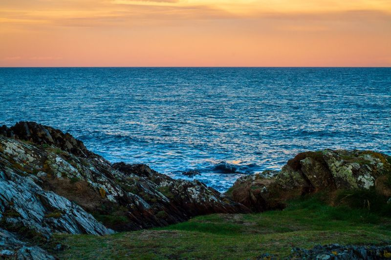 Seascape Colours Sea Beauty In Nature Sky Scenics - Nature Water Horizon Over Water Horizon Tranquility Tranquil Scene Nature Idyllic Land Beach Rock No People Rock - Object Solid Non-urban Scene Outdoors