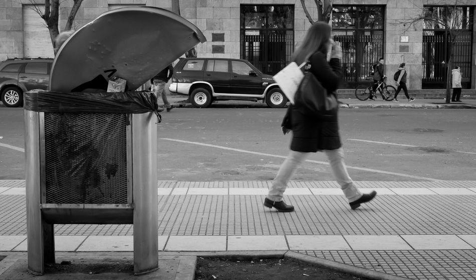 Taking Photos Blackandwhite Leicacamera Steetphotography Streetphoto_bw Urbanphotography City Life City Explorer Garbage Shoot Directv People Walking In The Street Official Eyeem © Mdq Antenna Monochrome_life