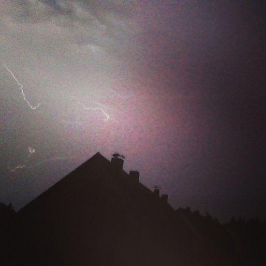 Gewitter Celle Blitze Hell Haus 2uhrnachts Himmel