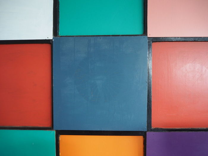 Full frame shot of multi colored wall