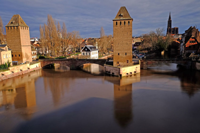 Alsace Cathedral Europe Trip European  France Landscape_Collection Reflection Strasbourg Architecture Bridge Building Exterior Built Structure Canal City Day Europe Landscape Old Outdoors Reflection Reflections River Tall Water Waterfront