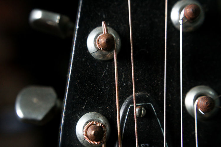 EyeEm Selects Indoors  No People Music Close-up Black Background Day Strings Of Music Guitar