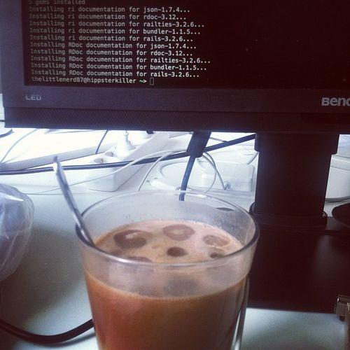 Selfmade ice coffee
