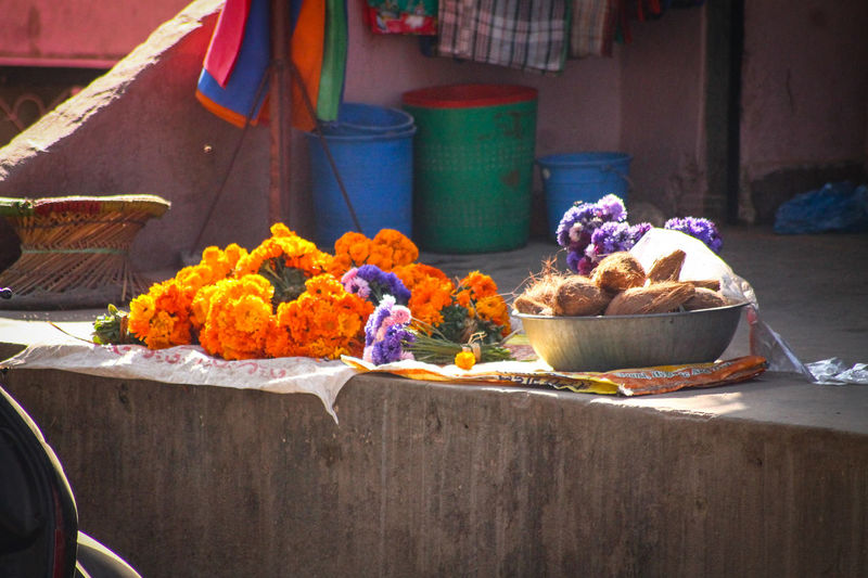 Flower Freshness No People Day Cultures Outdoors Kathmandu, Nepal Street Photography Streets Of Nepal Flower Garland Offerings To The Gods Colors Street Colors Travel Photography Travel Destinations Backgrounds