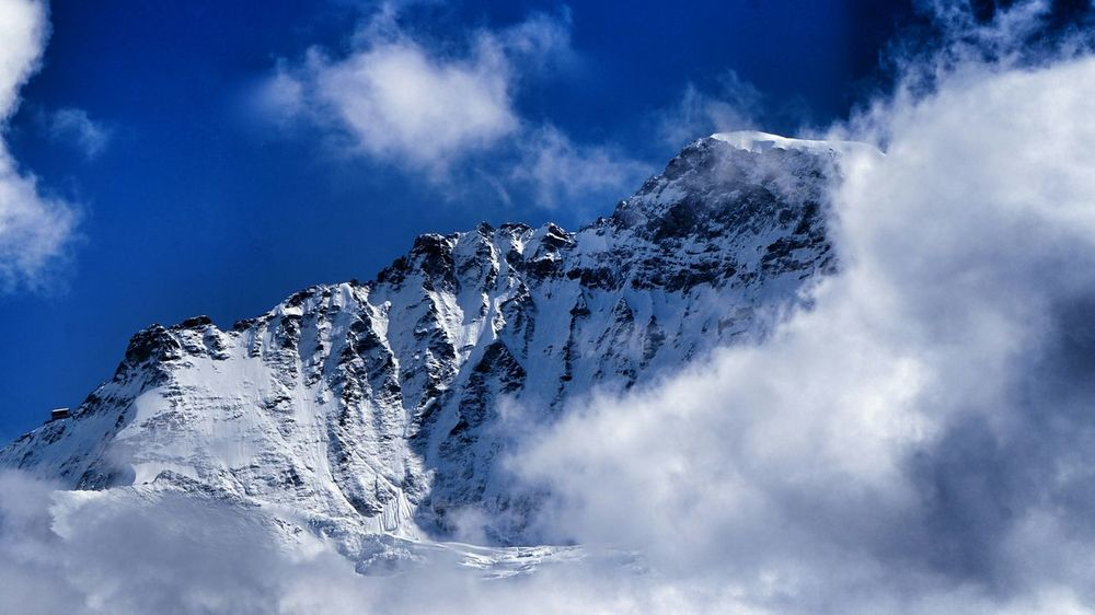 Mountain View Mountain Jungfrau Protecting Where We Play Switzerland Eye4photography  Bernese Oberland Clouds And Sky