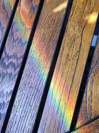Wood - Material Backgrounds Multi Colored Full Frame No People Close-up Day Rainbow Rainbow Colors Wood Outdoors Outdoor Photography Table Light