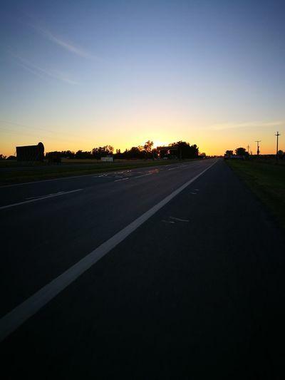 Amanecer por los caminos... Road Sunset No People Outdoors Landscape Sky Nature