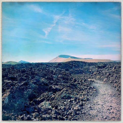 Timanfaya National Park Lanzarote Island Canary Islands Lanzarote Sky Cloud - Sky Nature Transfer Print Land Auto Post Production Filter Tranquility No People Outdoors Mountain Landscape Scenics - Nature