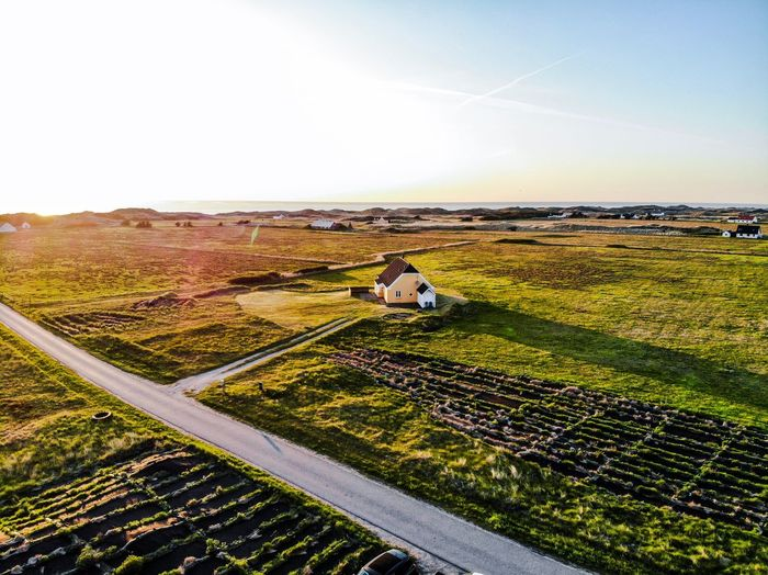 The Coast of Denmark at sunset From Above  Dronephotography Dänemark Denmark Sky Land Scenics - Nature Tranquil Scene Beauty In Nature Environment Tranquility Nature Landscape Field Agriculture Day No People Horizon Clear Sky Copy Space Outdoors Non-urban Scene Rural Scene