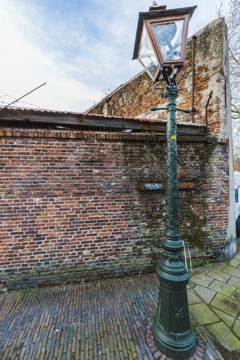 Lamp Leiden Netherlands Old Street Urbex Wall