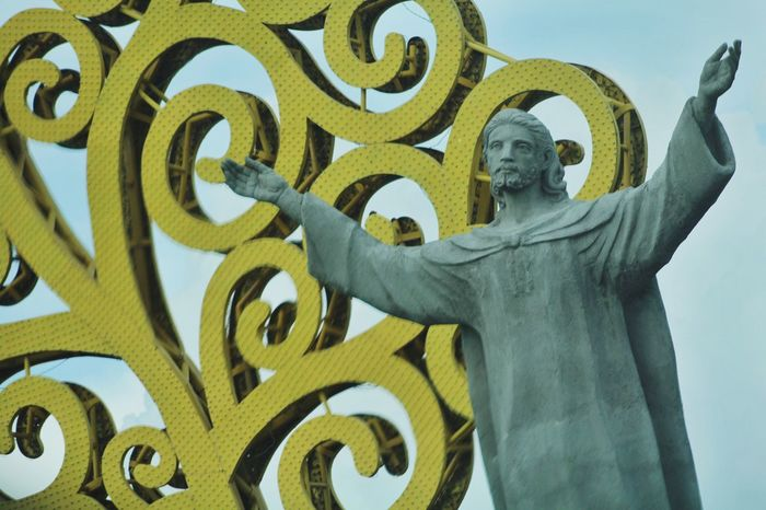 Nicaragua Jesus Cristo Redentor Low Angle View History Day Managua