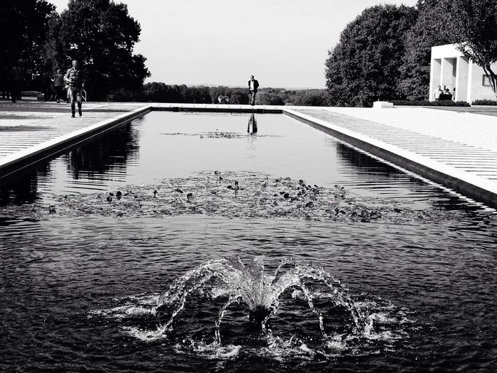 Fountain Water Blackandwhite Architecture