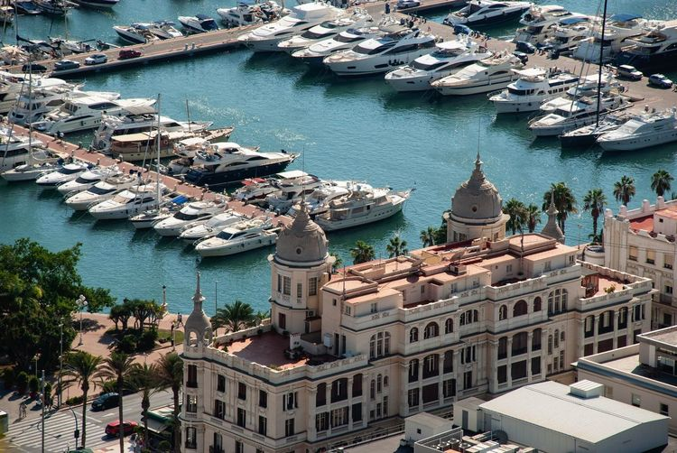 Alicante harbor Yachts High Angle View From Above  Sea Alicante Architecture Harbor SPAIN Spanish Costa Blanca Cityscape Architecture Water High Angle View Building Exterior Built Structure City Day No People Nautical Vessel Outdoors Travel Destinations