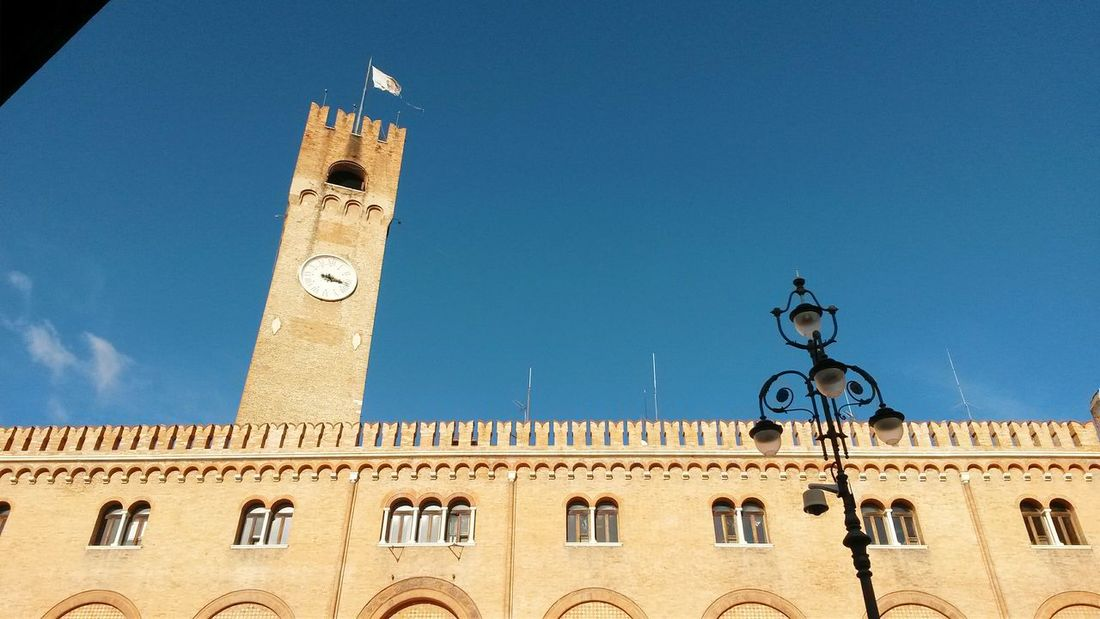 Architecture Building Exterior Clock Tower Low Angle View Travel Destinations Old Town Blue Sky History City Square Piazza Dei Signori Travel Photography Rosso Mattone Your Ticket To Europe