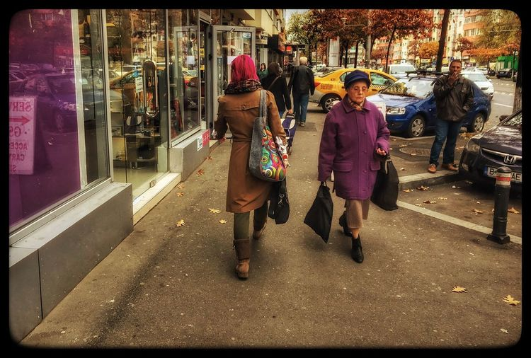 Very colorful, so autumnish...streets of Bucharest Real People Lifestyles Women Leisure Activity Men Outdoors Traditional Clothing Full Length Day City Sari One Person Architecture Real Life Randomshot Pointandclick Street Fashion Colorful Pink Hair Dont Care  Bold Colours