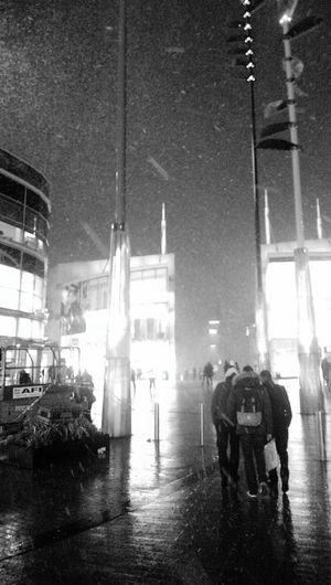 Snow out side bull ring Birmingham Snow ❄ Birmingham Bull Ring Black And White