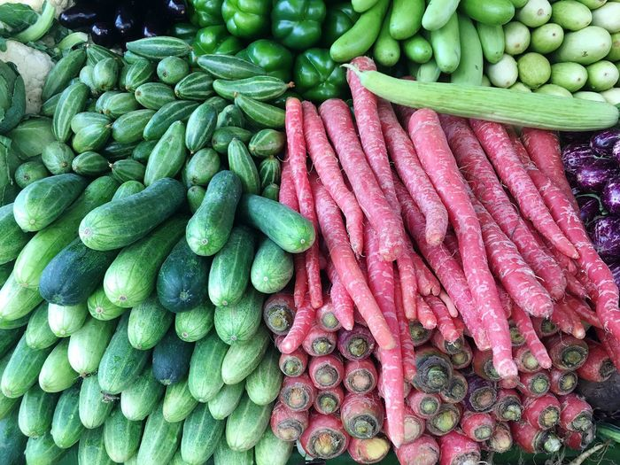 Close-up of vegetables for sale in market