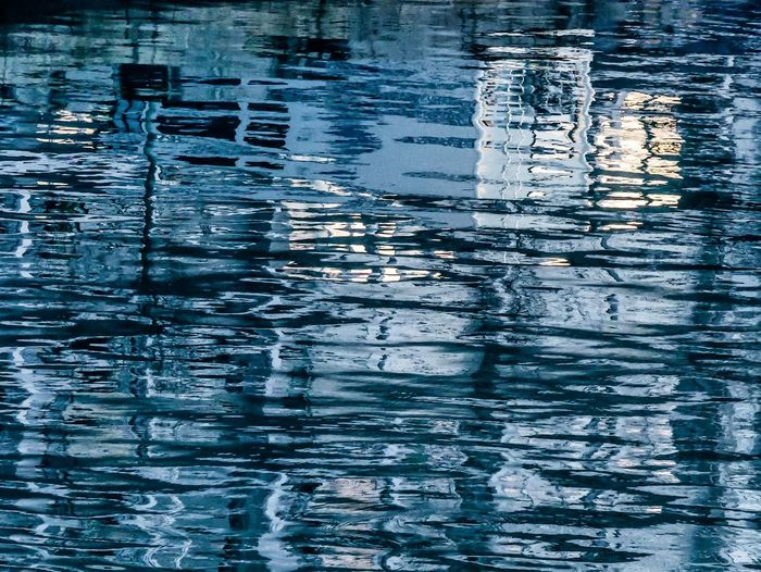 Water Backgrounds Full Frame Rippled Waterfront Reflection Close-up Sky
