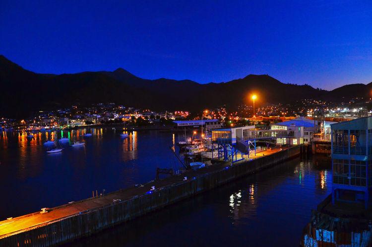 New Zealand Picton  Port Dusk
