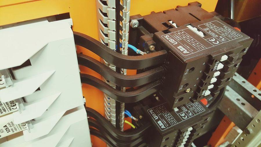 Schaltschrankvertrahtung Schaltschrank EyeEm Selects Schutz Vertrahtung Verdrahtung Elektronik Elektonic Elektronics Part Elektronika