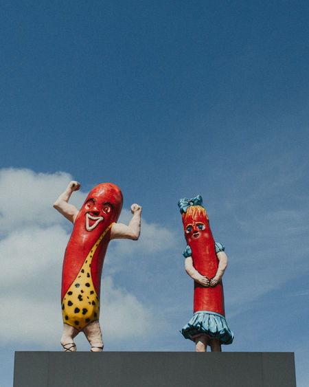 Astrology Sign Celebration Celebration Event Chicago Chicagodogs Clown Day Figurine  No People Outdoors Red Sky Statue Superdawg