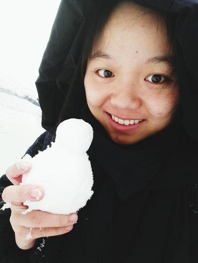 눈이온다~ 눈사람만들어 Snow ❄ Winter Snowman