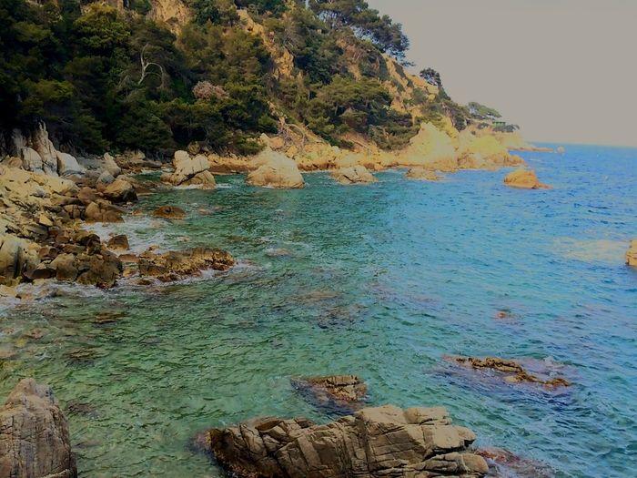 Azul cielo.. Verde esperanza... Sea Hello World EyeEm Nature Lover Mar Mediterráneo Escaping Nature_ Collection  Soul Searching