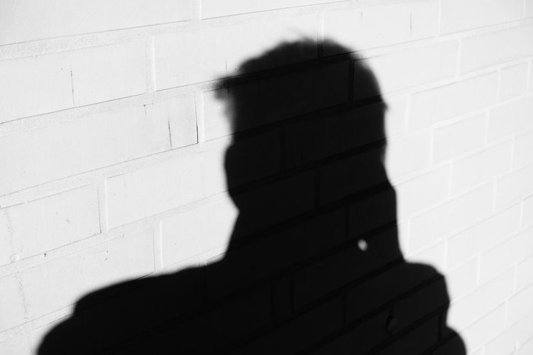 shadow Shadow Silhouette Mystery Close-up Architecture Brick Wall Wall Focus On Shadow Long Shadow - Shadow