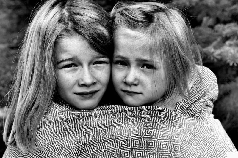 Together you girls can change the world... Blackandwhite Family Sisters Sister EyeEm Selects Childhood Child Portrait Two People Real People Headshot Girls Females Lifestyles Togetherness Women Offspring Front View People Emotion Looking At Camera Leisure Activity