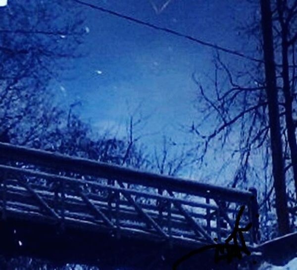 The Otherside Brigde Winter Water Reflections Trees