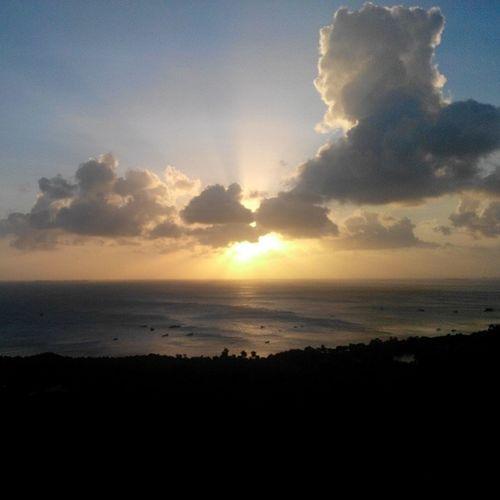 Sunset from bukit jokotuwo karimun jawa Throwback Belomlamalamaamatsih Nofilter Karimunjawa karimunjawaisland visitindonesia2014 traveler