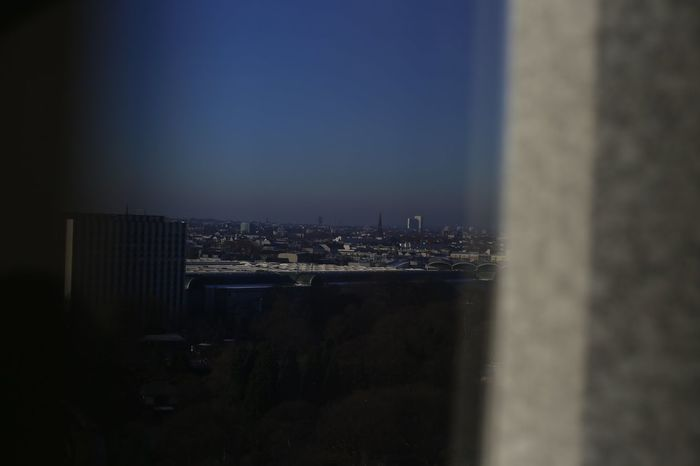 Hamburg Through The Window Skyline Wide Angle View