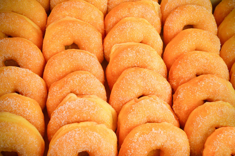 donut background / sweet donut dessert cook homemade with sugar on circle donut delicious Background Bakery Bread Breakfast Brown Cake Carnival Food Chocolate Cinnamon Closeup Color Image Colorful Convenience Copy Space Deep Fried  Delicious Dessert Diet Donut Donuts Dough Doughnut Eating Food Food And Drink Fresh Freshness Frosting Glazed Gourmet Group Of Objects Health Healthy Icing Indulgence Ingredient Isolated Market Meal Mini Donut Mini Doughnut Pastry Round Snack Sugar Sweet Sweet Food Tasty Unhealthy White