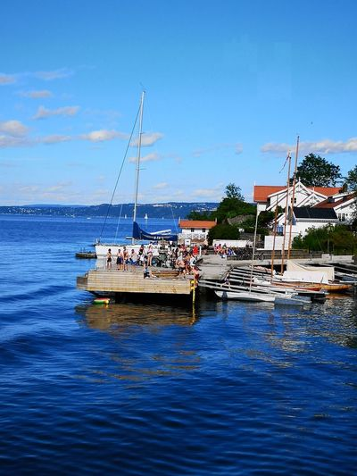 Norway Oslofjord Water Nautical Vessel Sea Harbor Moored Blue Sailing Ship Archipelago Sky Marina