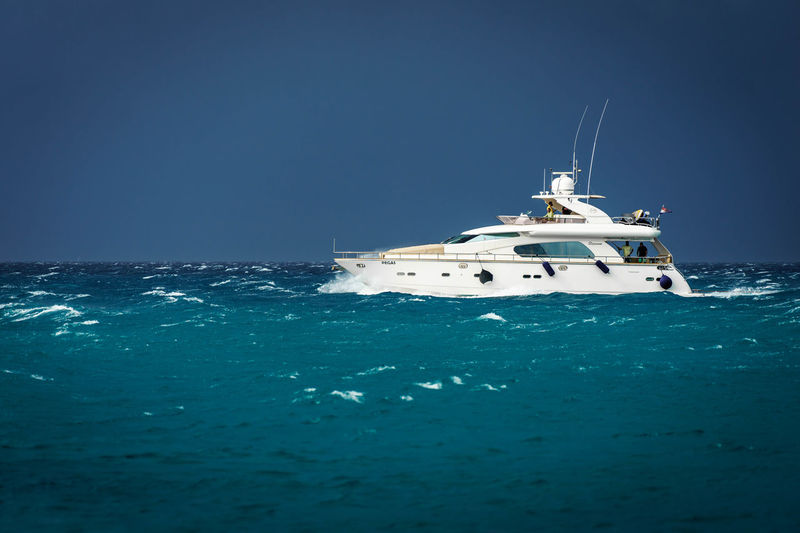 Beauty In Nature Blue Clear Sky Day Horizon Over Water Luxury Nature Nautical Vessel No People Outdoors Sailing Sea Sky Transportation Vacations Water Yacht