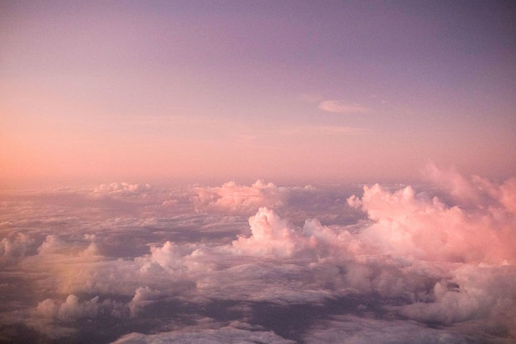 Cloud view from Aeroplane during sunset or sunrise. Beauty In Nature Sky Cloud - Sky Scenics - Nature Nature No People Tranquil Scene Tranquility Idyllic Outdoors Sunset Backgrounds Cloudscape Day Heaven Dramatic Sky Environment Full Frame Low Angle View Meteorology Softness Wispy