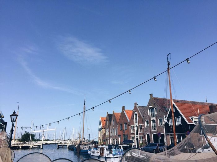 Sky Architecture Outdoors No People Travel Destinations Day Built Structure Cable Building Exterior Harbor Nautical Vessel Water Sailing Ship Clear Sky Telephone Line City