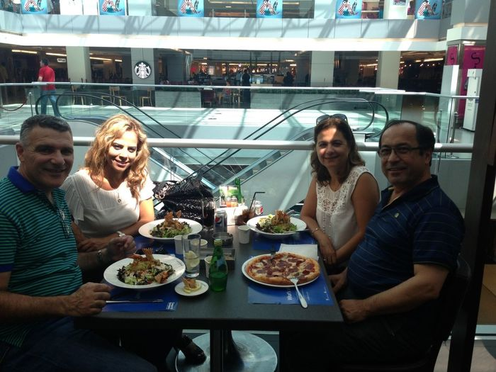 Lunch with Amal & Hikmat Rizk.