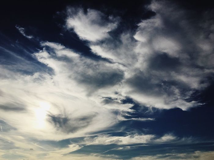 Cloud - Sky Sky Low Angle View Beauty In Nature Nature Cloudscape Sky Only Scenics Tranquility Majestic Atmospheric Mood Tranquil Scene Dramatic Sky No People Backgrounds Heaven Outdoors Day Blue