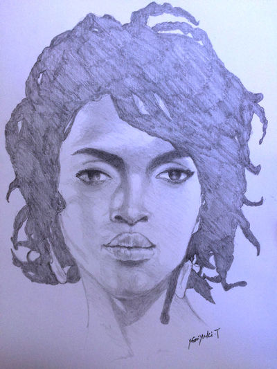 MyDrawing Art, Drawing, Creativity Hello World ArtWork Drawing LaurynHill Lauryn Hill ローリンヒル