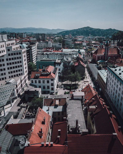 Coffee Stop Ljubljana Architecture Building Building Exterior Built Structure City Cityscape Community Crowd Crowded Day High Angle View House Nature Old Outdoors Residential District Roof Sky Town TOWNSCAPE